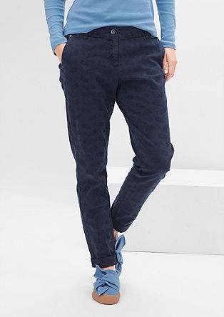 Smart Chino: trousers with a paisley pattern from s.Oliver