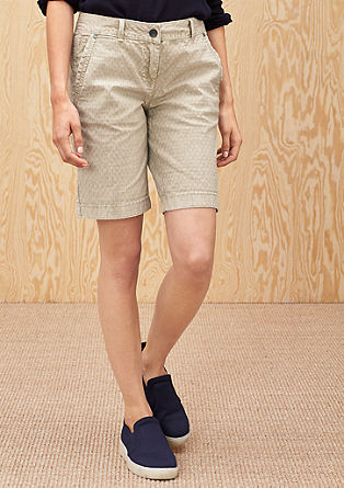 Smart short: jeans van jacquard