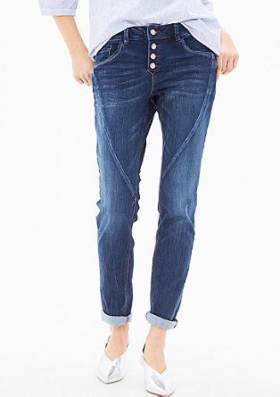 Smart Slim: jeans hlače z okrasnimi šivi