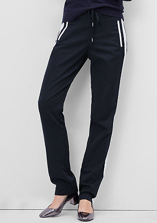 Smart Straight: casual satin trousers from s.Oliver
