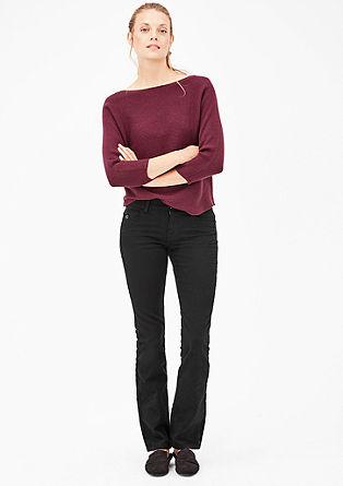 Smart Straight: černé džíny