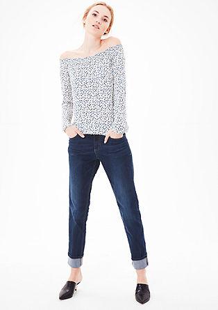 Smart Straight: jeans hlače z gumbi