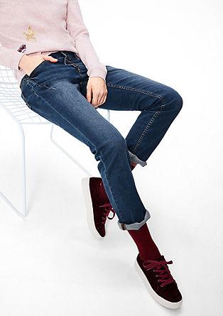 Smart Straight: Jeans mit Knopfleiste