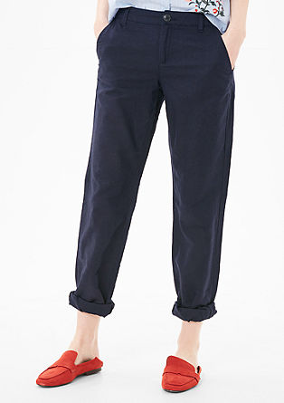 Smart Straight: Linen trousers from s.Oliver