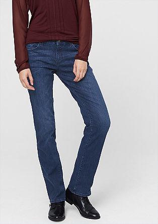 Smart straight: straight blue jeans