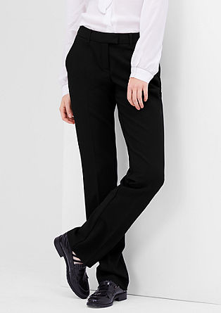 Smart straight: stretchy business-pantalon
