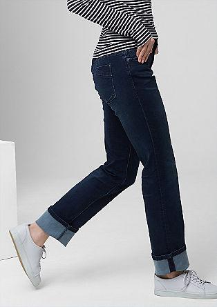 Smart straight: ton sur ton stretchjeans