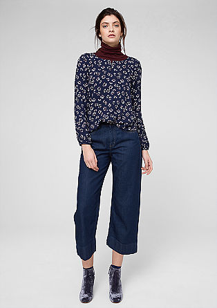 Smart Wide: denim culottes from s.Oliver