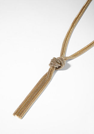 Snake chain necklace with knots from s.Oliver