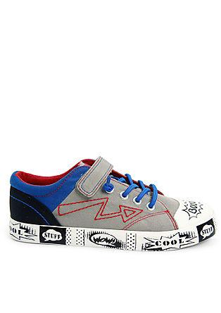 Sneakers van textiel met cartoonprint