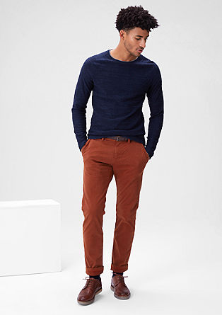 Sneck Slim: velvety cloth chinos from s.Oliver