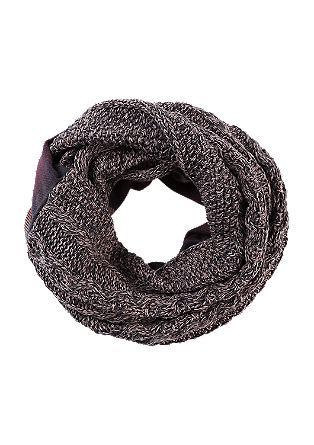 Snood in a mix of fabrics from s.Oliver