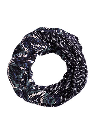Snood in a mix of patterns from s.Oliver