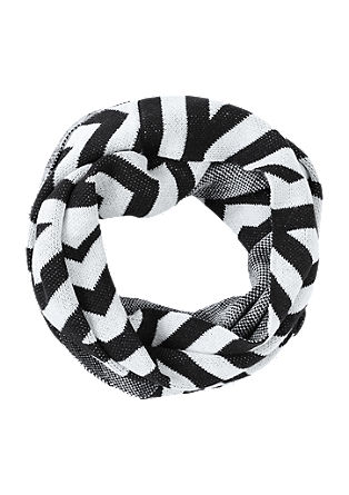 Snood in black and white from s.Oliver