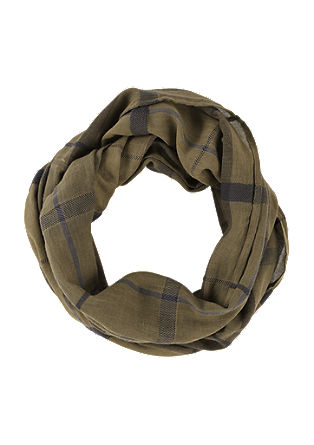 Snood with a check pattern from s.Oliver
