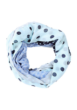Snood with polka dots and cuboids from s.Oliver