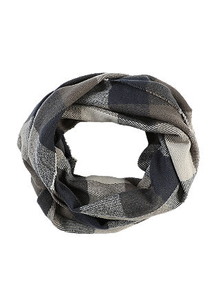 Soft check snood from s.Oliver