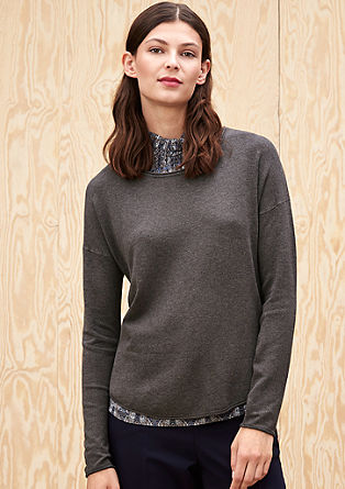 Soft fine knit jumper in a mullet style from s.Oliver
