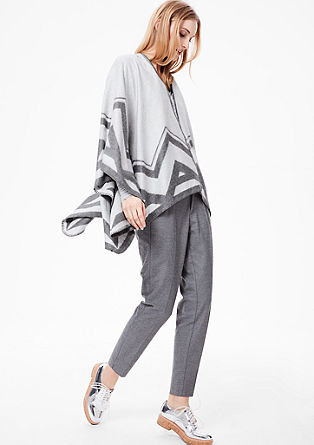 Soft poncho with Aztec pattern from s.Oliver