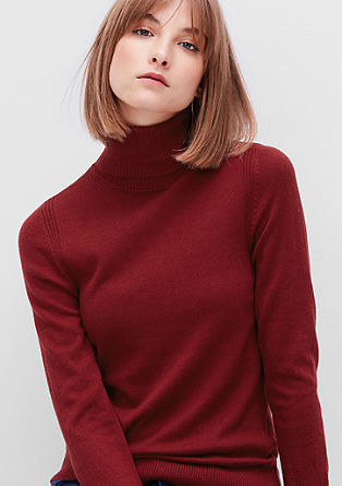 Soft wool blend roll neck from s.Oliver