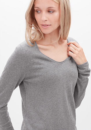 Softer Pulli aus Woll-Mix