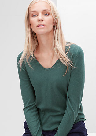Softer Pulli aus Woll-Mix