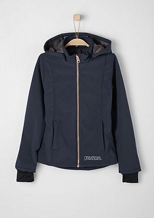 Softshell-Jacke mit Plüschinnenseite