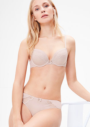 Spacer/push-up bra with lace from s.Oliver