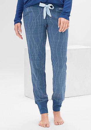Spodnji del pižame s širokimi obrobami