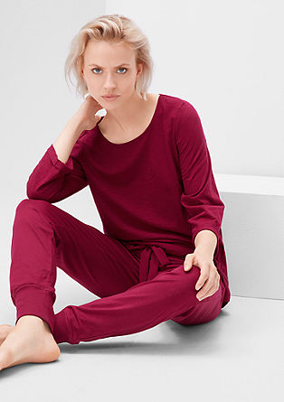 Spodnji del pižame z okrasno pentljico