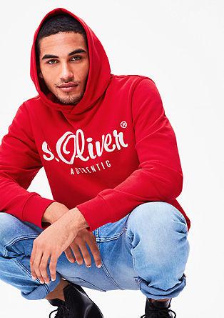 Športen pulover s kapuco in tiskanim logotipom