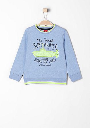Športen pulover z aplikacijo podmornice