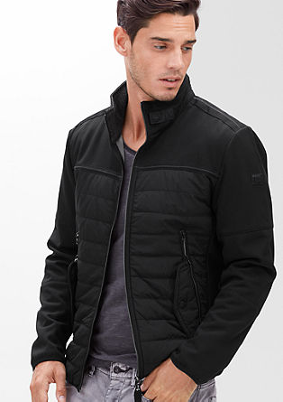 Sportive Jacke im Materialmix