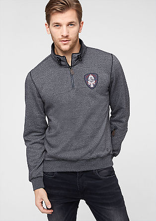 Sportiver Sweater mit Patch