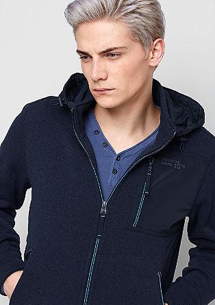 Športna jakna iz mešanice materialov