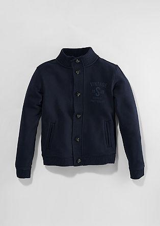 Športna jakna s pletenim vstavkom