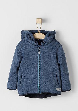 Športna jakna v videzu pletenine