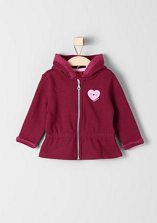 Športna jakna z aplikacijo z bleščicami