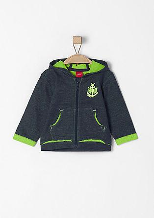 Športna jakna z neonskimi detajli