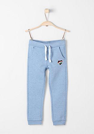 Športne hlače meliranega videza