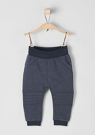 Športne hlače z motorističnimi detajli