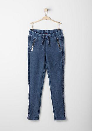 Športne hlače z učinkom barvanega pranja