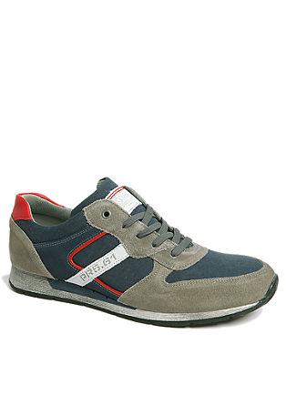 Športni čevlji iz kombinacije usnja in tekstila