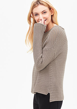 Športni pulover iz grobe pletenine