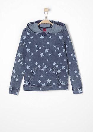 Športni pulover s potiskom z zvezdicami