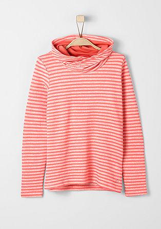 Športni pulover s šal ovratnikom