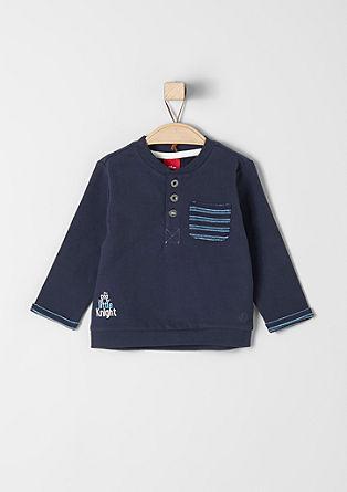 Športni pulover s tkanimi detajli