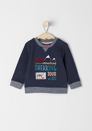 Športni pulover z aplikacijami
