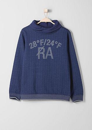 Športni pulover z žametnim tiskom