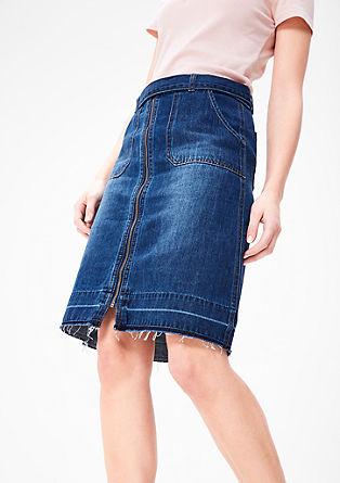 Športno jeans krilo z zadrgo